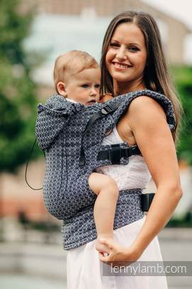Ergonomic Carrier, Toddler Size, jacquard weave 100% cotton - wrap conversion from LITTLE LOVE - HARMONY, Second Generation