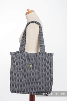 Shoulder bag made of wrap fabric (100% cotton) - LITTLE LOVE - HARMONY - standard size 37cmx37cm