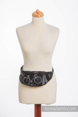 Waist Bag made of woven fabric, (100% cotton) - CITY OF LOVE AT NIGHT