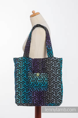 Shoulder bag made of wrap fabric (100% cotton) - TRINITY COSMOS - standard size 37cmx37cm