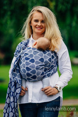 Ringsling, Jacquard Weave (100% cotton) - with gathered shoulder - JOYFUL TIME TOGETHER (grade B)