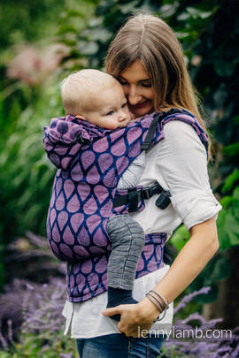 Ergonomic Carrier, Baby Size, jacquard weave 100% cotton - JOYFUL TIME WITH YOU - Second Generation
