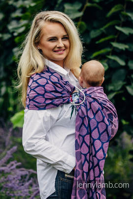 Ringsling, Jacquard Weave (100% cotton) - with gathered shoulder - JOYFUL TIME WITH YOU