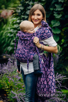 Hobo Bag made of woven fabric, 100% cotton - JOYFUL TIME WITH YOU