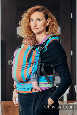 LennyUp Carrier, Standard Size, broken-twill weave 100% cotton - wrap conversion from ZUMBA BLUE