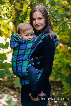 Ergonomic Carrier, Baby Size, twill weave 100% cotton - wrap conversion from COUNTRYSIDE PLAID - Second Generation.