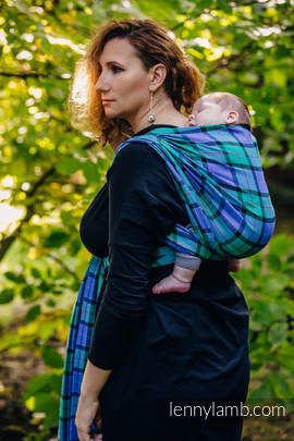 Baby Sling, Twill Weave, 100% cotton,  COUNTRYSIDE PLAID - size L (grade B)