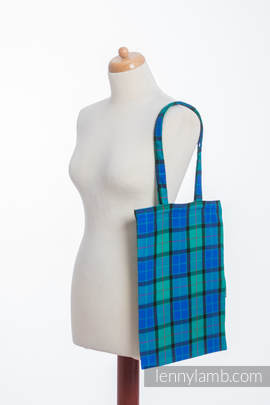 Shopping bag made of wrap fabric (100% cotton) - COUNTRYSIDE PLAID