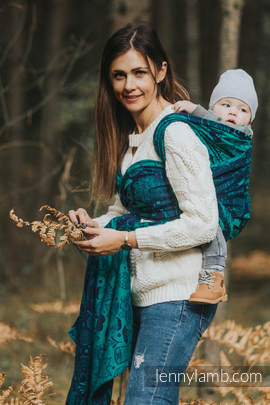 Baby Wrap, Jacquard Weave (100% cotton) - UNDER THE LEAVES - size XS