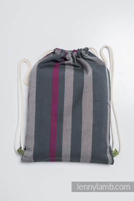 Sackpack made of wrap fabric (100% cotton) - SMOKY - FUCHSIA - standard size 32cmx43cm