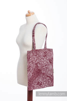 Shopping bag made of wrap fabric (100% cotton) - WILD WINE