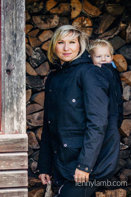 Parka Babywearing Coat - size 4XL - Black & Diamond Plaid