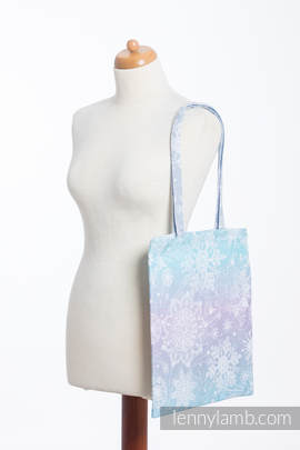 Shopping bag made of wrap fabric (96% cotton, 4% metallised yarn) - GLITTERING SNOW QUEEN