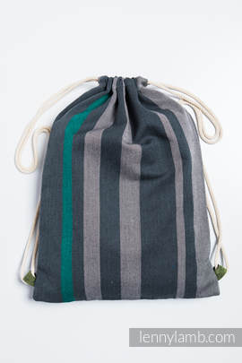 Sackpack made of wrap fabric (100% cotton) - SMOKY - MINT - standard size 32cmx43cm