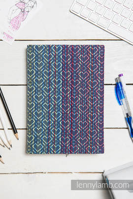 Calendar 2018 with jacquard fabric hard cover - size A4 - BIG LOVE - SAPPHIRE