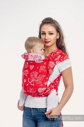 WRAP-TAI carrier Toddler with hood/ jacquard twill / 100% cotton / SWEET NOTHINGS