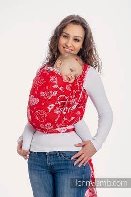 Baby Wrap, Jacquard Weave (100% cotton) - SWEET NOTHINGS - size M