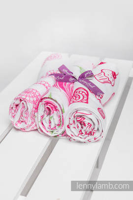 Muslin Square Set - SWEET NOTHINGS, ROSE BLOSSOM, ICED LACE PINK & WHITE