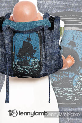 Lenny Buckle Onbuhimo, toddler size, jacquard weave (100% cotton) - Wrap conversion from BE DREAMER!