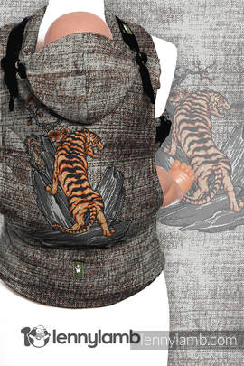 Ergonomic Carrier, Toddler Size, jacquard weave 100% cotton - wrap conversion from BE WILD! - Second Generation