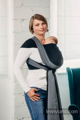 Basic Line Baby Sling - OBSIDIAN, Broken Twill Weave, 100% cotton, size M