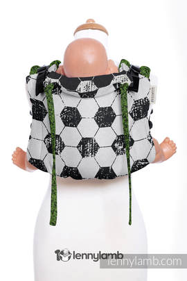 Lenny Buckle Onbuhimo, toddler size, jacquard weave (100% cotton) - Wrap conversion from FAIR PLAY ON THE PITCH