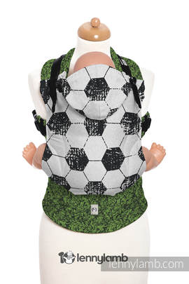 Ergonomic Carrier, Baby Size, jacquard weave 100% cotton - FAIR PLAY ON THE PITCH - Second Generation