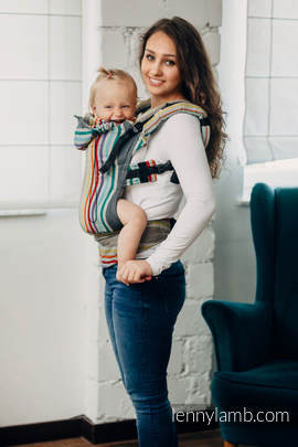 Ergonomic Carrier, Toddler Size, broken-twill weave 100% cotton - wrap conversion from OASIS - Second Generation