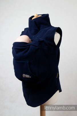 Fleece Babywearing Vest - size L - Navy Blue