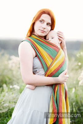 Baby Sling, Broken Twill Weave, 100% cotton,  INDIAN SUMMER - size S (grade B)