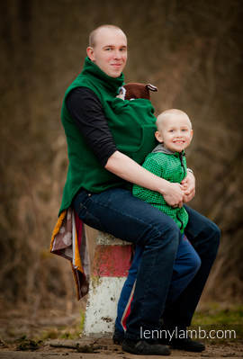 Fleece Babywearing Vest - size XL - Green