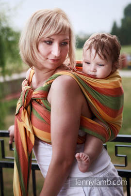 Baby Sling, Broken Twill Weave (bamboo + cotton) - Spring - size XL (grade B)