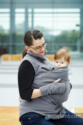 Fleece Babywearing Vest - size XL - Gray