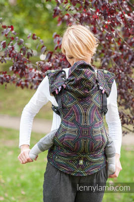 Ergonomic Carrier, Baby Size, jacquard weave 100% cotton - ILLUMINATION - Second Generation (grade B)