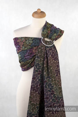 Ringsling, Jacquard Weave (100% cotton) - with gathered shoulder - COLORS OF RAIN (grade B)