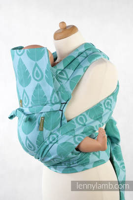 MEI-TAI carrier Toddler, jacquard weave - 100% cotton - with hood, NORTHERN LEAVES