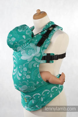 Ergonomic Carrier, Toddler Size, jacquard weave 100% cotton - wrap conversion from Power Of Hope - Second Generation