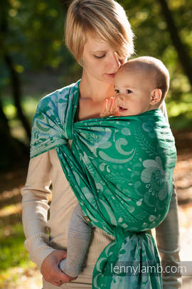 Baby Wrap, Jacquard Weave (100% cotton) - POWER OF HOPE - size L (grade B)