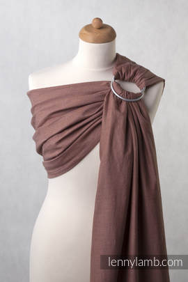 Ringsling, Diamond Weave (100% cotton), with gathered shoulder - Brown Diamond (grade B)